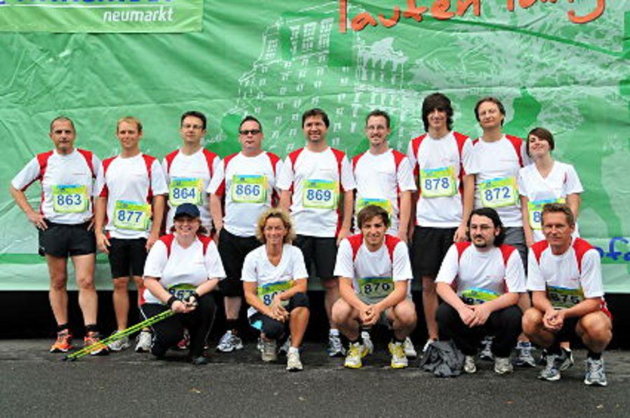 Auctores-Team zeigt langen Atem beim Firmenlauf 2011